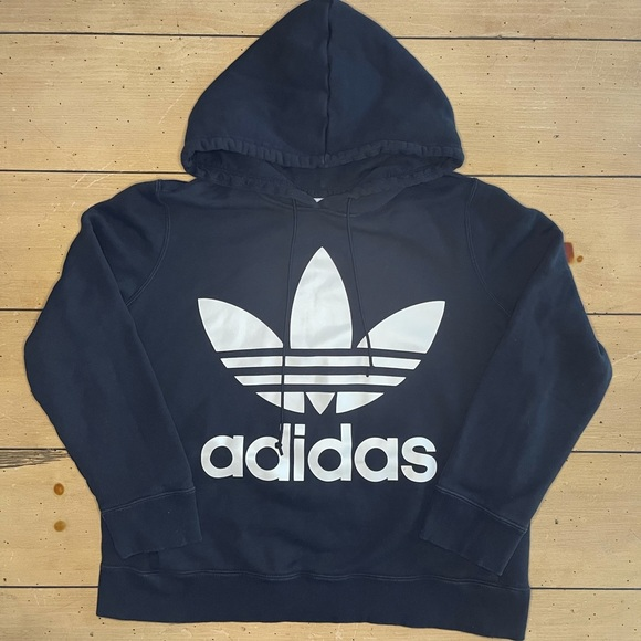 Adidas Logo Hoodie Black
